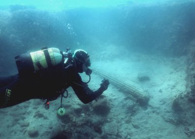 Vasif Sahoglu - Liman Tepe Underwater Excavations - 25.09.2015 - 4th Century BC Column