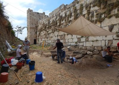 Anis Chaaya - Gbeil/Byblos, Lebanon, 2015, Excavation of a glacis, north-eastern part of the archaeological mound, Middle Bronze Age, Lebanese University Expedition. photo: A. CHAAYA