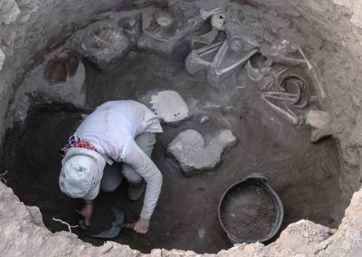 Gülriz Kozbe - Kavuşan Höyük, Diyarbakır/ SE Anatolia, Post-Assyrian Level/ ca.6th cent. BC, Pit Burial with Turtles, photo: 2008 G.Kozbe (Buried with turtles: the symbolic role of the Euphrates soft-shelled turtle (Rafetus euphraticus) in Mesopotamia