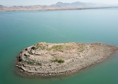 "Jesper Eidem - ""salvage archaeology"" - in this case in Iraqi Kurdistan (Lake Dokan). The photo shows the top of the site of Tell Shemshara (prehistoric, MBA, Islamic) at high water in Oct. 2019."