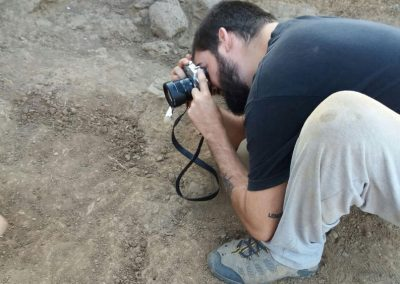 David Usieto Cabrera - This photo shows (me) & the weird poses we need to make in order to take good pictures while out on the field (Zincirli, Turkey).