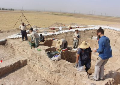 David Usieto Cabrera - This other photo illustrates my supervision while working on the field at Tell Surezha (Erbil, Iraqi Kurdistan)
