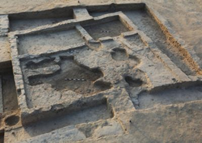 V.P. Prabhakar - Harappan site of Karanpura (in Rajasthan) India View of a multi-roomed house, Harappan period, Karanpura (Rajasthan), India.
