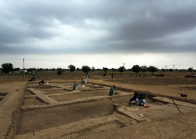 V.P. Prabhakar- Harappan site of Karanpura (in Rajasthan) India General view of the excavated remains, Karanpura (Rajasthan), India
